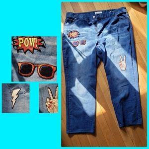 Eloquii Jeans - Eloquii Applique Jeans Like New